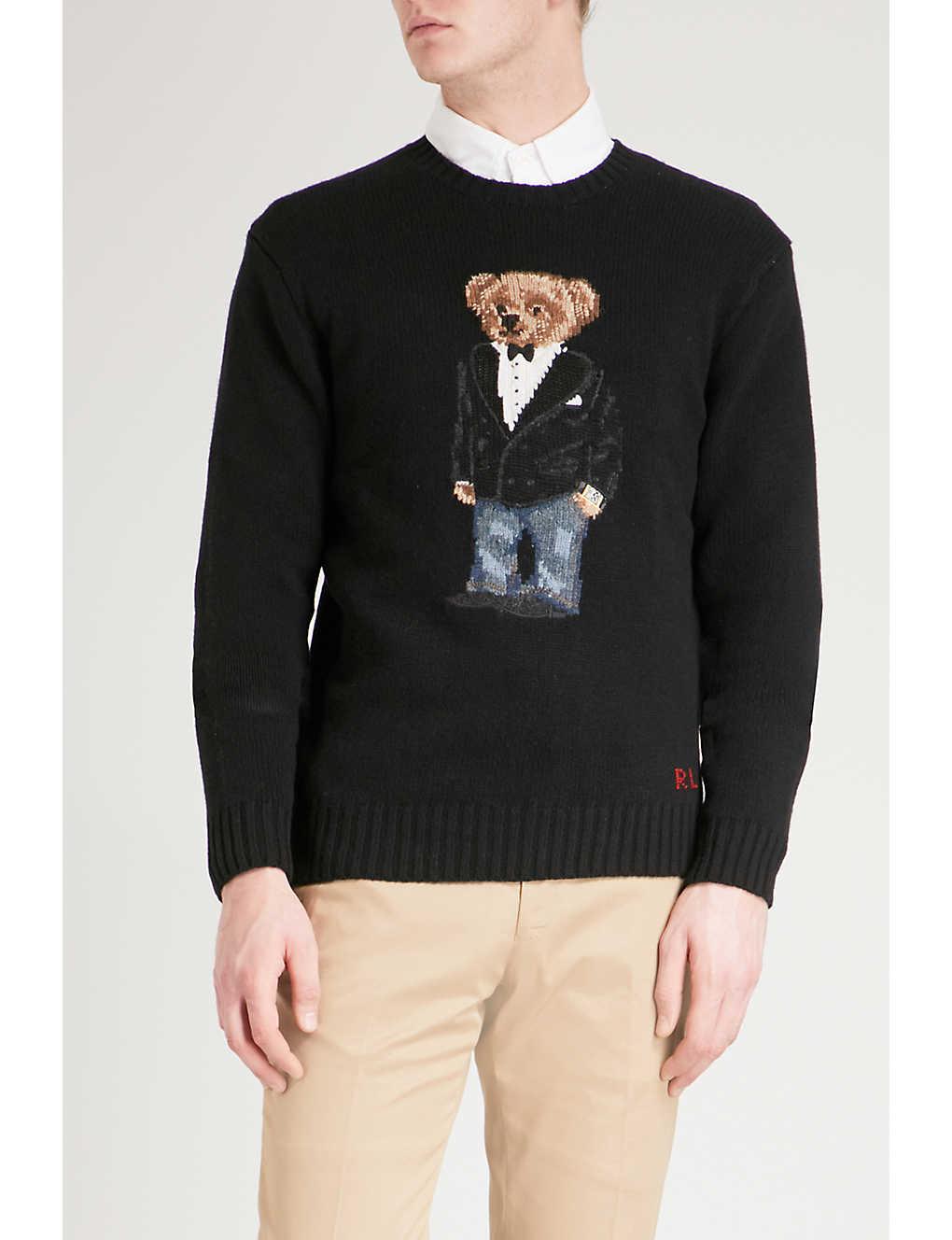 cc89c857a4 POLO RALPH LAUREN - Bear-embroidered wool