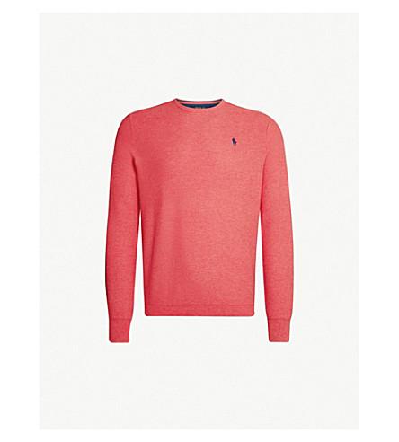 POLO RALPH LAUREN Logo-embroidered cotton jumper (Highland+rose+heather da5f6864ba7