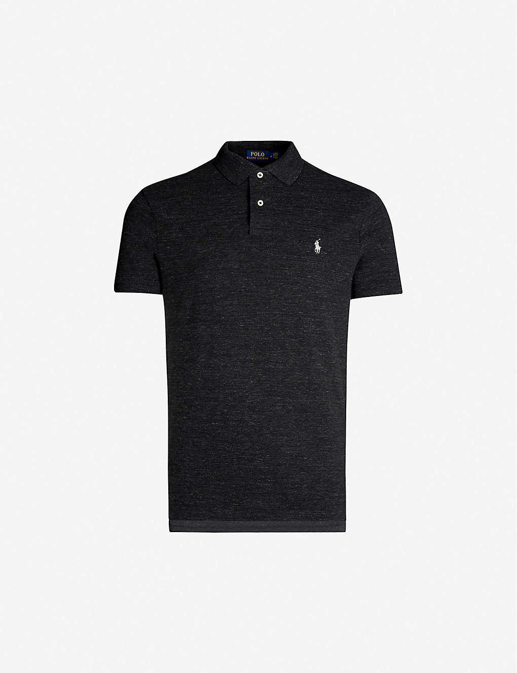 POLO RALPH LAUREN: Logo-embroidered custom slim-fit cotton-piqué polo shirt