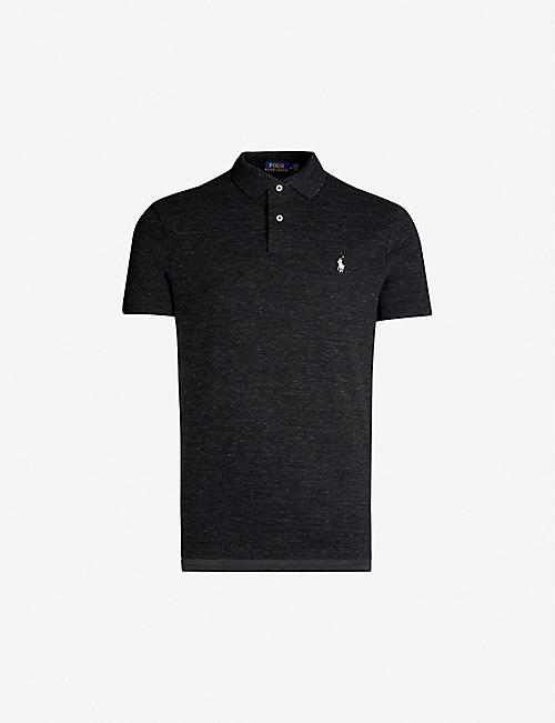 8e456e833c82 POLO RALPH LAUREN Logo-embroidered custom slim-fit cotton-piqué polo shirt