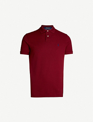 POLO RALPH LAUREN Logo-embroidered custom slim-fit cotton-piqué polo shirt