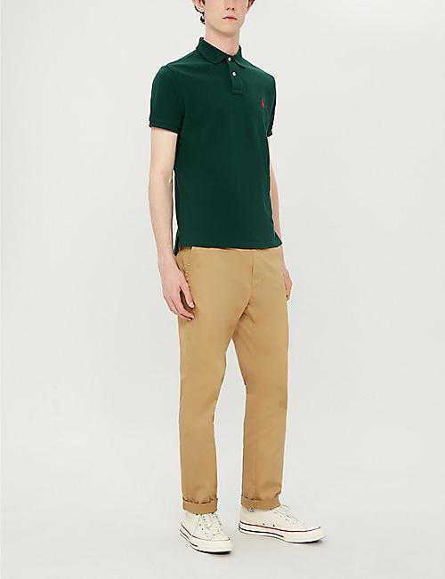 2f5e60f79 POLO RALPH LAUREN Logo-embroidered custom slim-fit cotton-pique polo shirt