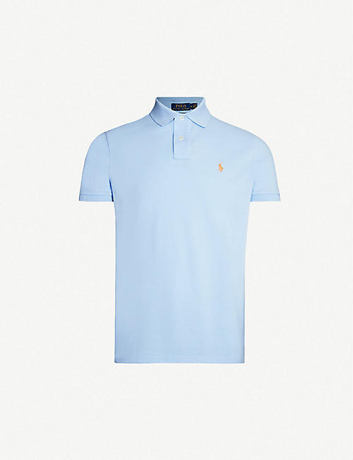 f63e05efc POLO RALPH LAUREN Logo-embroidered custom slim-fit cotton-piqué polo shirt