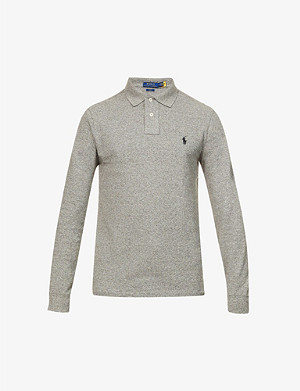 POLO RALPH LAUREN Slim-fit cotton-mesh polo shirt