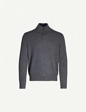 POLO RALPH LAUREN Zip-up wool and cashmere-blend jumper