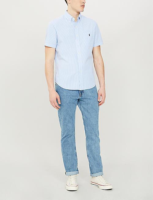 7a660bb0a POLO RALPH LAUREN Regular-fit button-down pinstripe cotton shirt