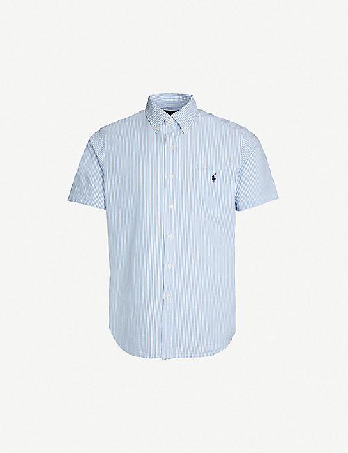 1afdab755bc07 POLO RALPH LAUREN Regular-fit button-down pinstripe cotton shirt