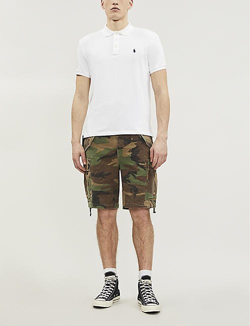 POLO RALPH LAUREN Regular-fit cotton camouflage shorts