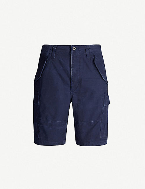 POLO RALPH LAUREN Faded cotton cargo shorts