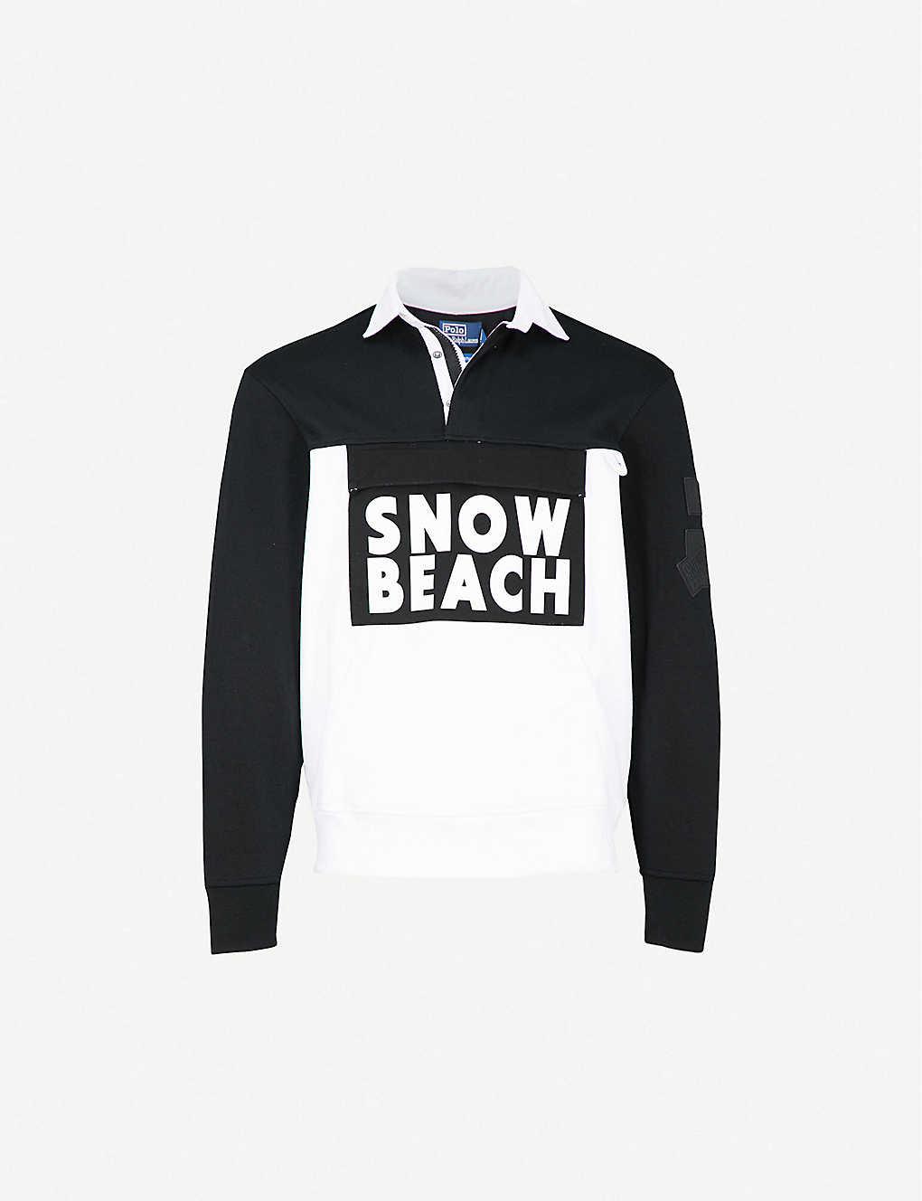 Fleece Lauren Ralph Tech Top Beach Polo Snow zpGVUqSM