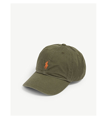 Polo Ralph Lauren Classic Logo Cotton Cap In Olive  576ae5683ad6