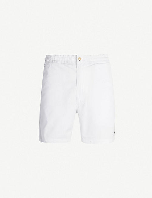 POLO RALPH LAUREN Logo-embroidered regular-fit stretch-cotton shorts