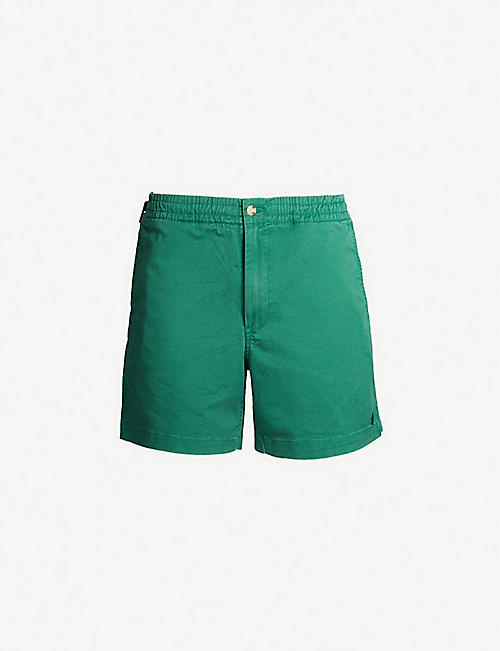 POLO RALPH LAUREN Logo-embroidered regular-fit cotton-twill shorts