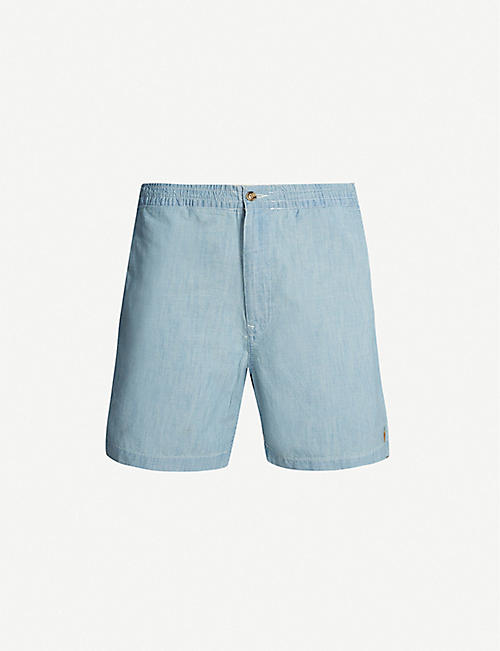 POLO RALPH LAUREN Relaxed-fit cotton-chambray shorts
