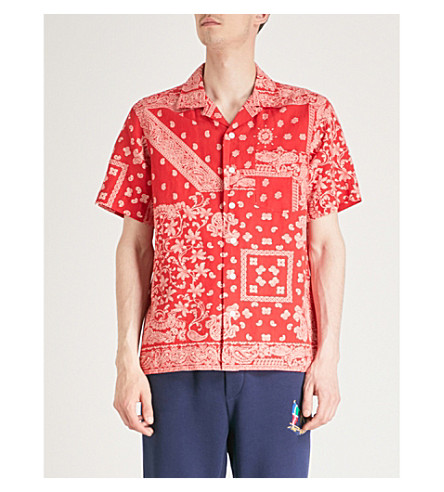 b3be07683 ... snap button down red shirt long sleeve be209 get polo ralph lauren  bandana print slim fit chambray shorts bloomingdaless 48955 56524 cheapest polo  ralph ...