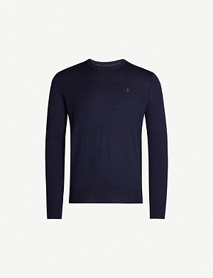 POLO RALPH LAUREN Logo-embroidered merino wool jumper
