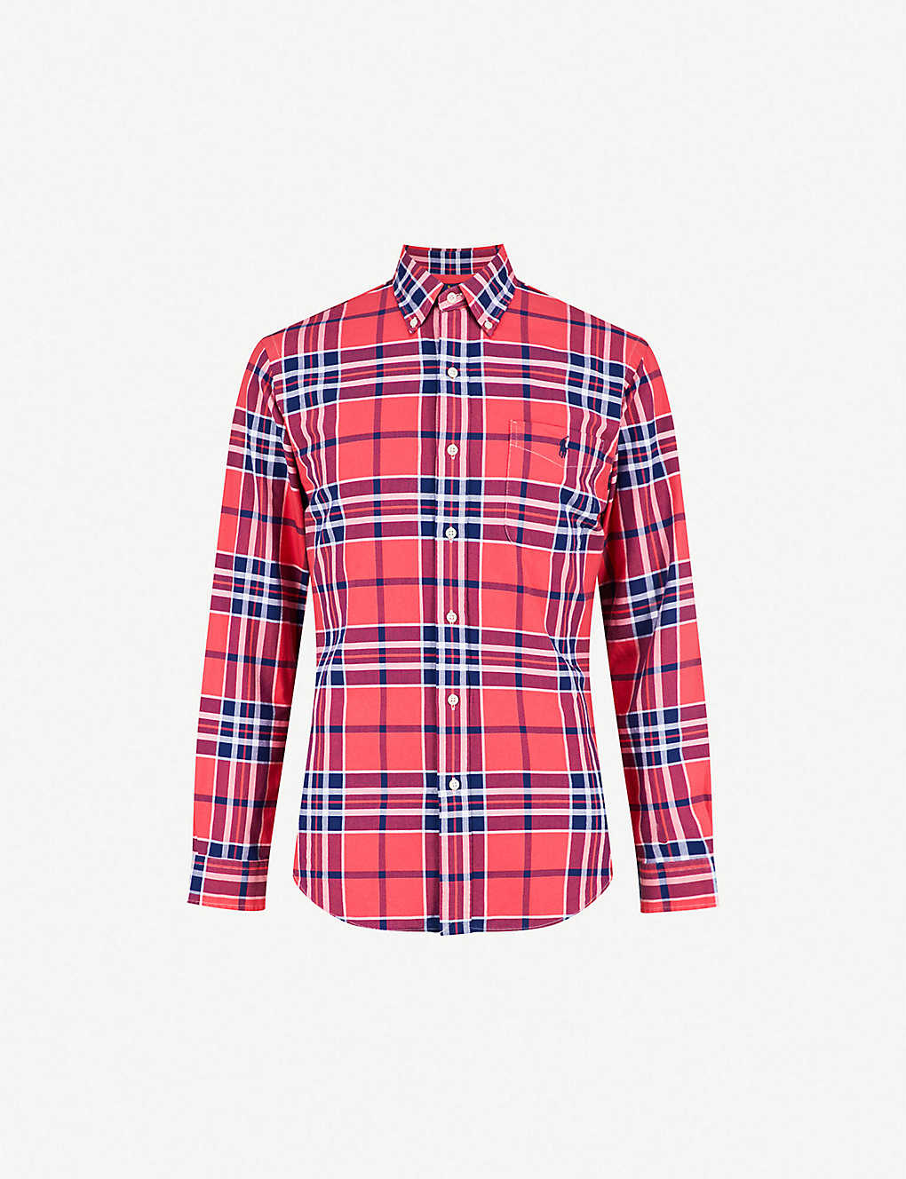2ee175f58 POLO RALPH LAUREN - Checked slim-fit cotton Oxford shirt ...