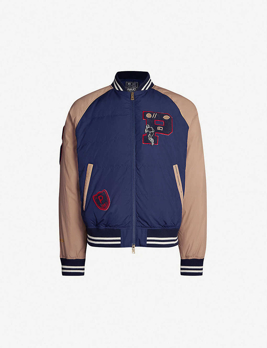c492a7217 POLO RALPH LAUREN - Appliqué-detail shell-down jacket | Selfridges.com