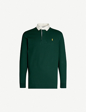 POLO RALPH LAUREN Slim-fit cotton rugby polo