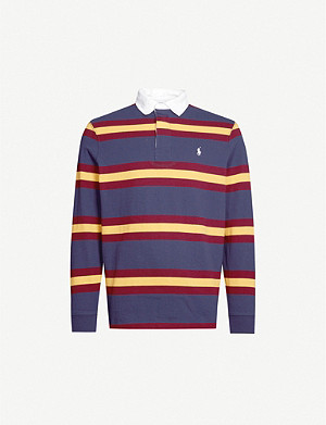 POLO RALPH LAUREN Striped cotton-knit rugby top