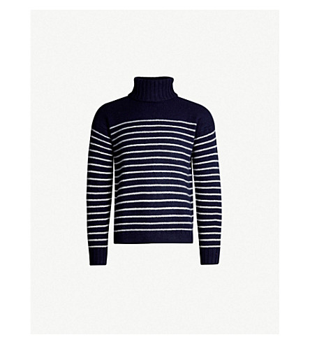 b354088f POLO RALPH LAUREN - Striped turtleneck wool jumper | Selfridges.com