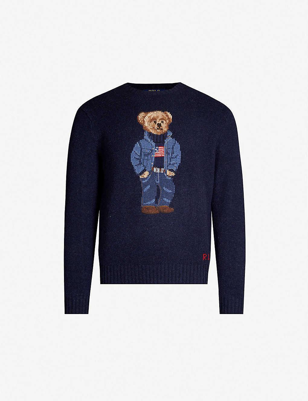 af0331d685a POLO RALPH LAUREN - Teddy Bear intarsia-knit wool jumper ...