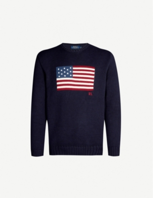 POLO RALPH LAUREN Flag-knit cotton jumper