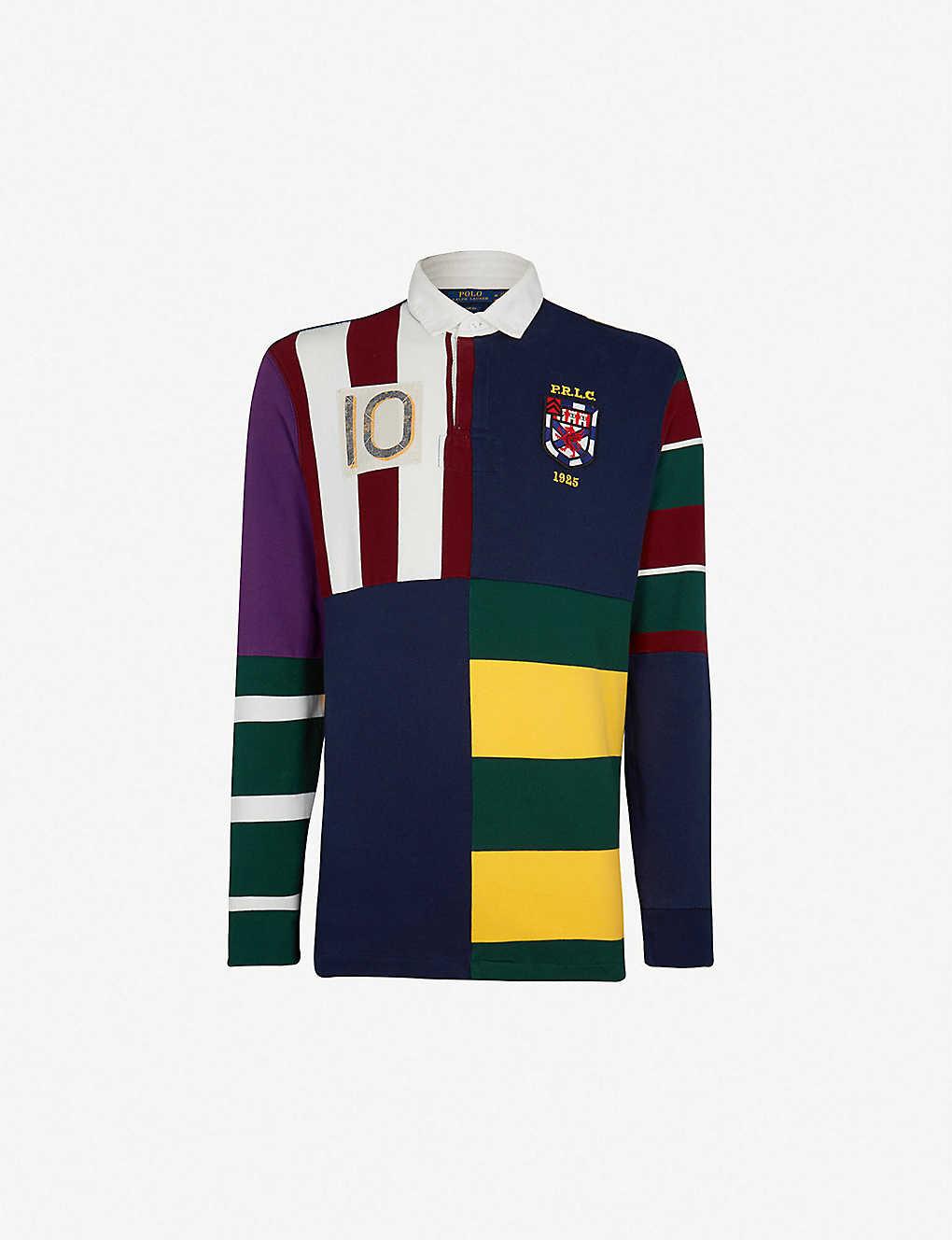 5b69f8355 POLO RALPH LAUREN - Contrast-panel cotton-jersey polo shirt ...