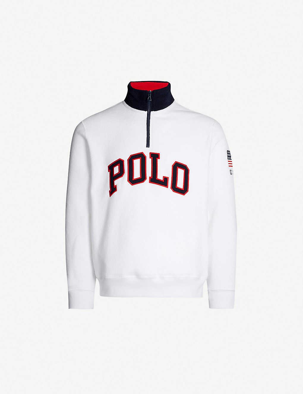 99b7307b POLO RALPH LAUREN - Logo-appliqu? fleece sweatshirt | Selfridges.com