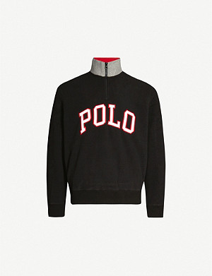 POLO RALPH LAUREN Logo-print fleece long-sleeved top