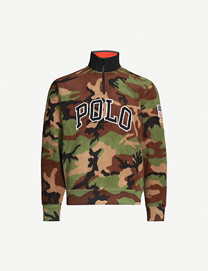 POLO RALPH LAUREN Camo-print regular-fit fleece jumper