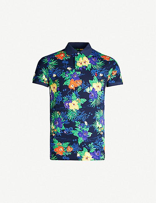 5497fe9aa50e POLO RALPH LAUREN Floral-print cotton-piqué polo shirt