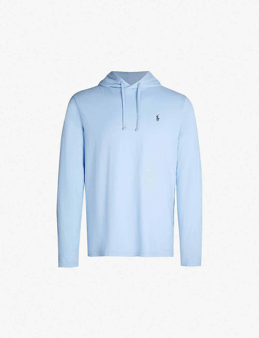 72153369f92 POLO RALPH LAUREN - Embrodiered logo cotton-jersey hooded T-shirt |  Selfridges.com