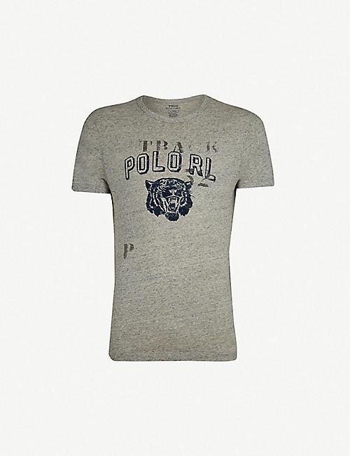 cc09b2e5a962 POLO RALPH LAUREN Tiger-print cotton-marl jersey T-shirt