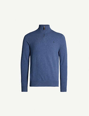 POLO RALPH LAUREN Funnel-neck relaxed-fit wool jumper
