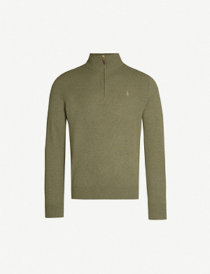 POLO RALPH LAUREN Half-zip merino wool jumper