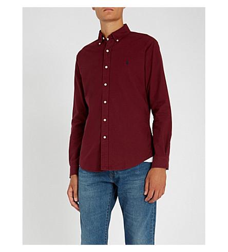 db06406ceb7 POLO RALPH LAUREN Slim-fit cotton shirt (Classic+wine
