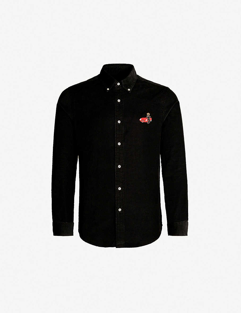 fc873c659 POLO RALPH LAUREN - Bear-embroidered slim-fit corduroy shirt |  Selfridges.com