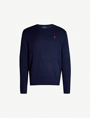 POLO RALPH LAUREN Embroidered crewneck cotton jumper