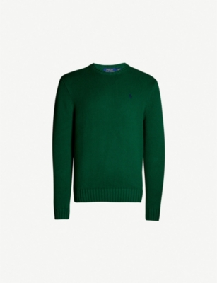 POLO RALPH LAUREN Logo-embroidered cotton knitted jumper