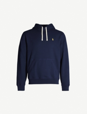 POLO RALPH LAUREN Logo-embroidered cotton-blend hoody