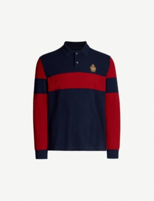 POLO RALPH LAUREN Crest-embroidered cashmere jumper
