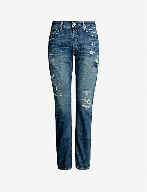 ff1604da10cd POLO RALPH LAUREN Faded slim-fit straight jeans
