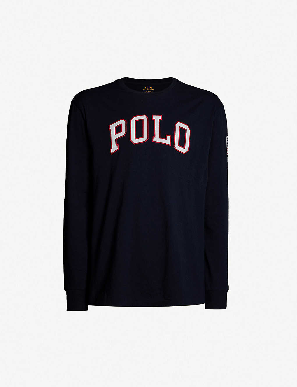ad892760975761 POLO RALPH LAUREN - Logo long-sleeved cotton top   Selfridges.com