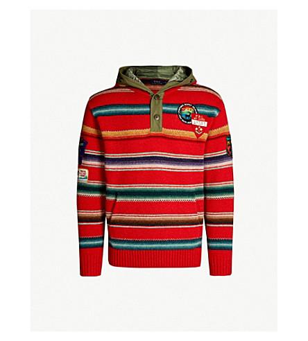 825db3e7 POLO RALPH LAUREN Striped hooded wool jumper (Red+stripe+serape