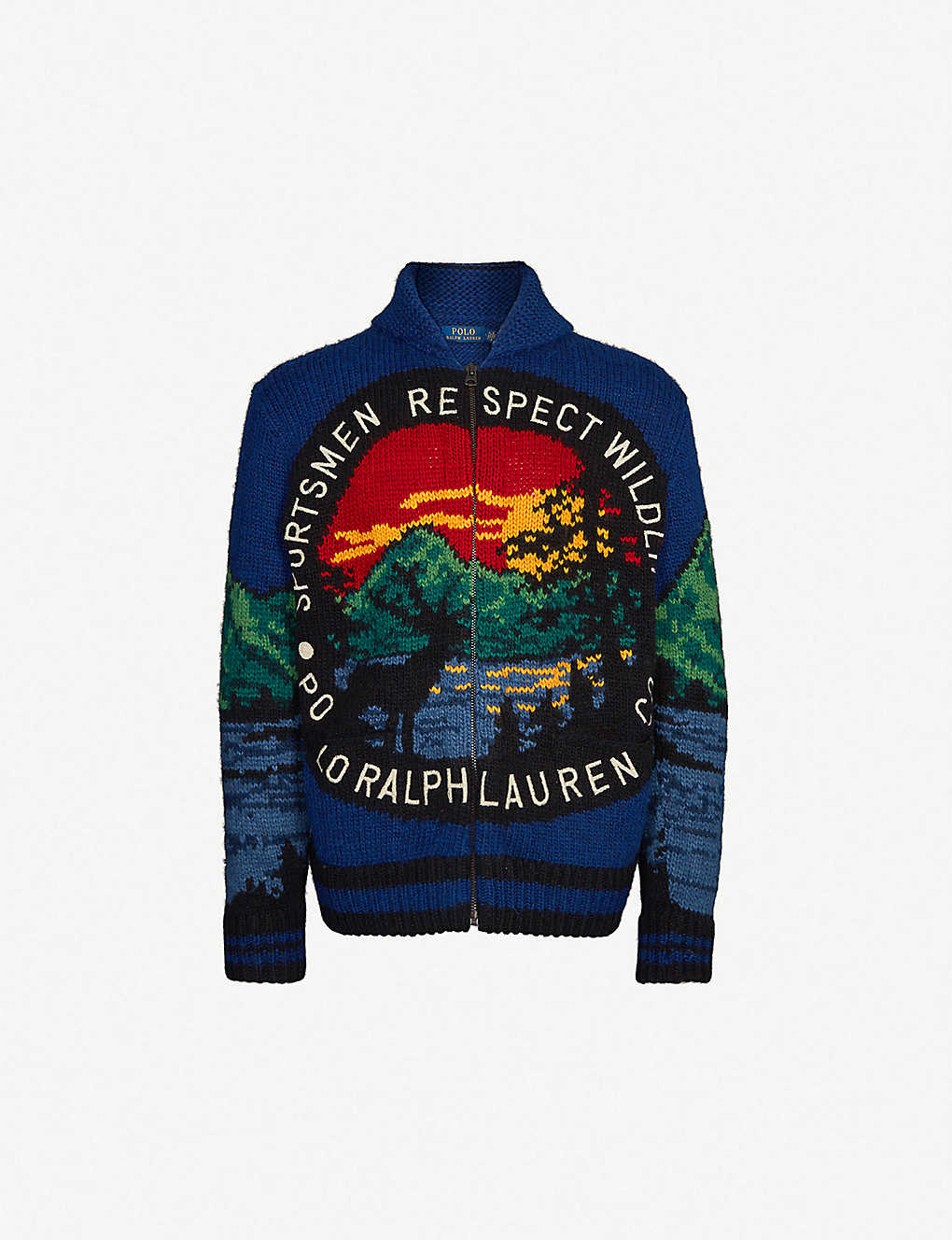 Polo Ralph Lauren Sportsmen Respect Wildlife Knitted Cardigan On Sale Stylaly