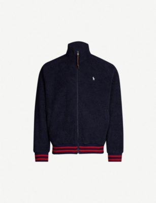 POLO RALPH LAUREN Striped-trim fleece jacket