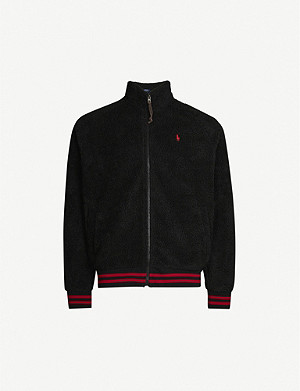 POLO RALPH LAUREN Logo-embroidered fleece jacket