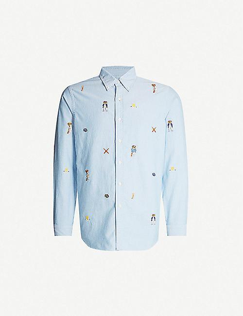 a7c69cfc0 POLO RALPH LAUREN Bear-embroidered cotton-twill shirt