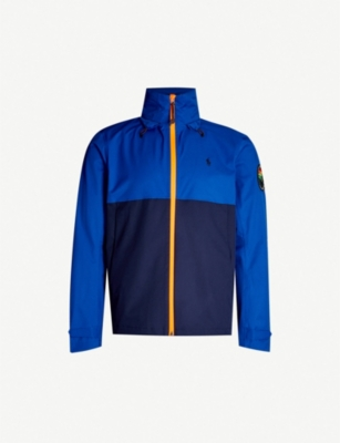 POLO RALPH LAUREN Badge-embroidered shell jacket